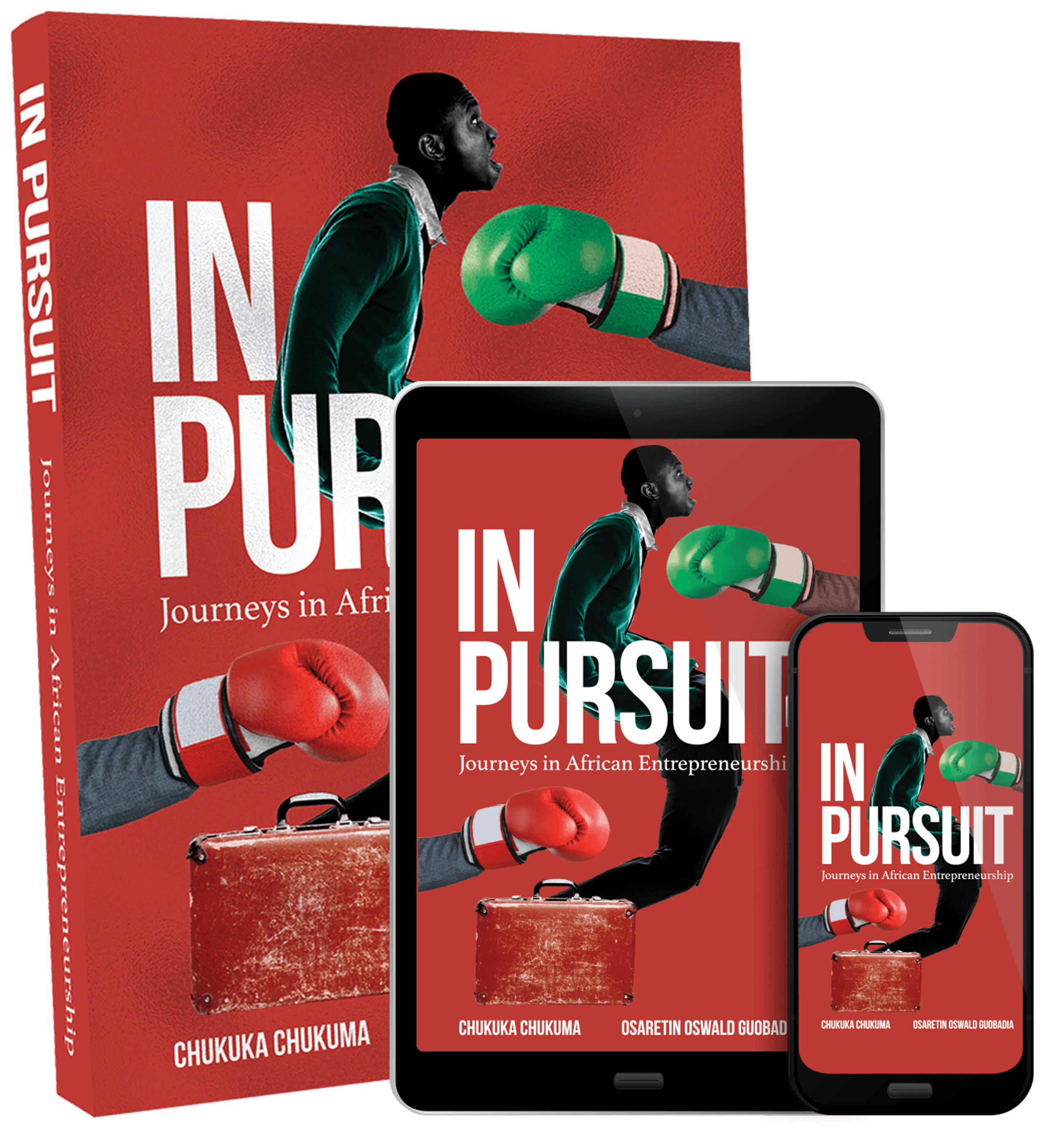 In Pursuit Book in hard copy and e-book form